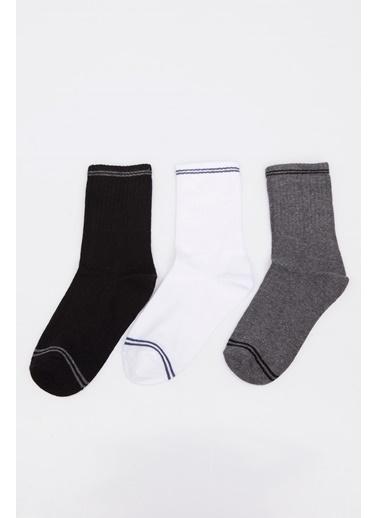 DeFacto 3'lü Uzun Çorap Seti Renkli